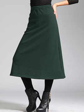 Ericdress SImple Vintage Usual Skirt