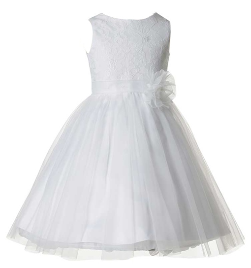 Ericdress 3D Floral Lace Flower Girl Dress
