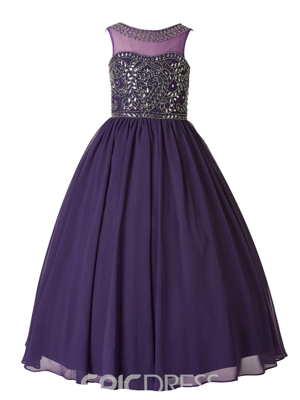 Ericdress High Quality Jewel Beaded Ball Gown Flower Girl Party Dress