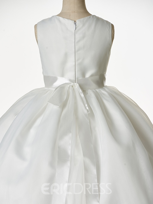 Ericdress Ball Gown Round Neck Sashes Flower Girl Dress
