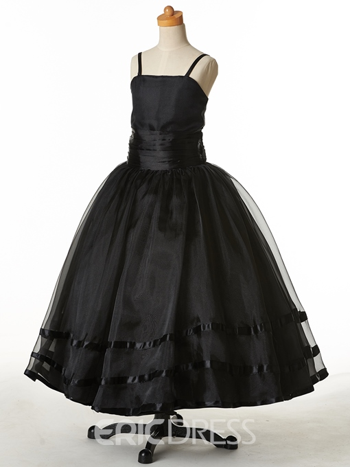 Ericdress High Quality Straps Ball Gown Flower Girl Party Dress
