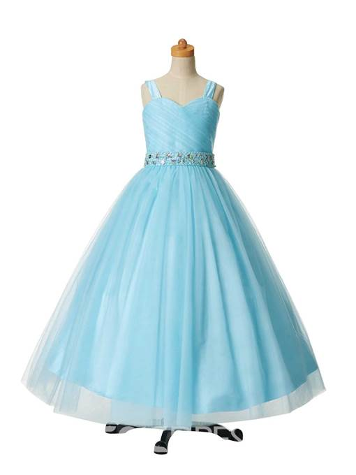 Ericdress Beautiful Beaded Straps Ball Gown Flower Girl Party Dress