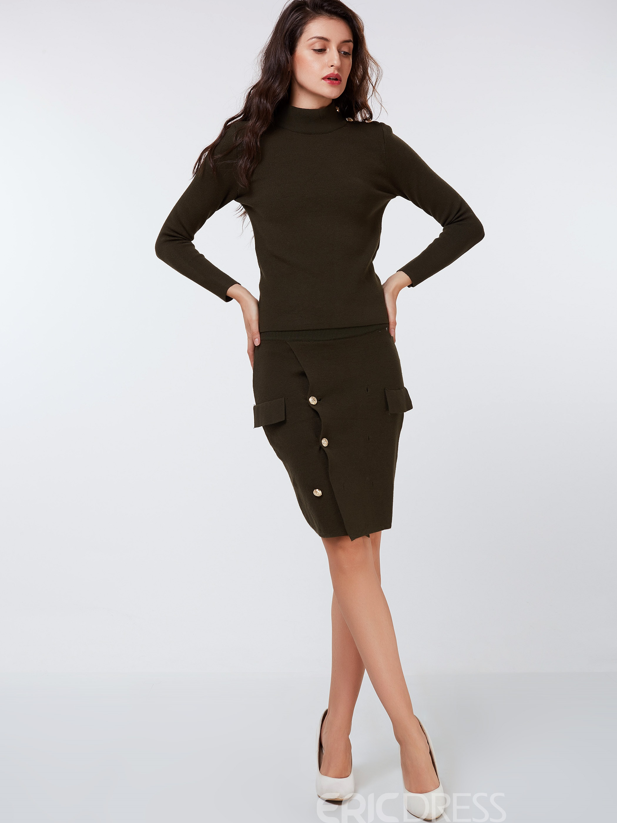 Ericdress Vintage Asymmetric Skirt Leisure Skirt