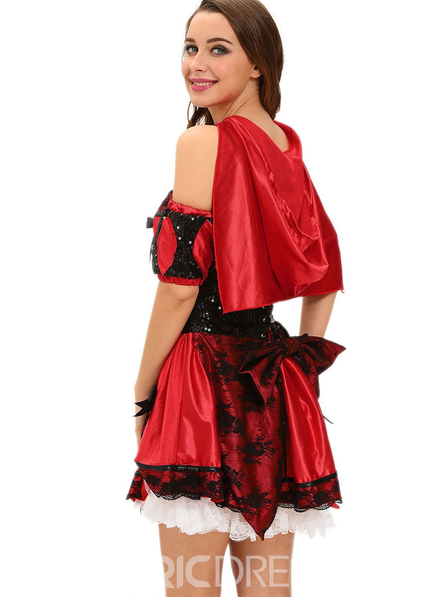 Ericdress Color Block Lace Patchwork Bowknot Cosplay Halloween Costume