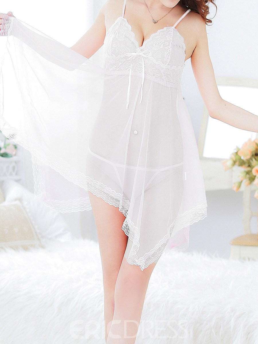 Ericdress Lace Patchwork Plus Size Sexy Women Babydoll