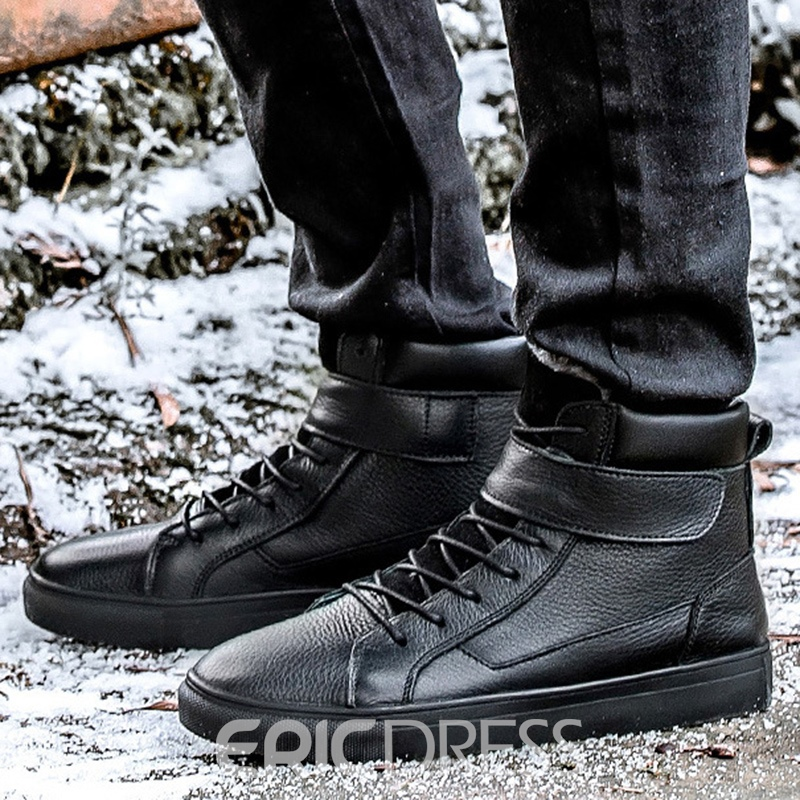 Ericdress Chic Solid Color High Top Men's Boots