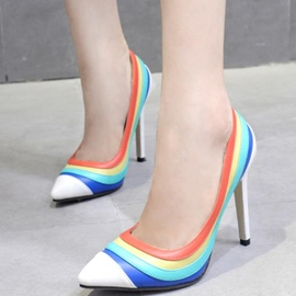 Ericdress Candy Color Rainbow Point Toe Pumps