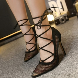Ericdress Mesh Cut Out Point Toe Pumps
