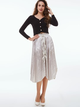 Ericdress Unique Pleated Skirt Leisure Suit