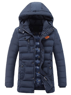 Ericdress Mid-Length Thicken Warm Winter Style Men's Coat