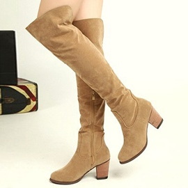 Ericdress All Match Side Zipper Chunky Heel Knight Boots