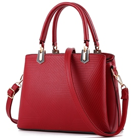 Ericdress Europe Irregular Geometric Embossed Handbag