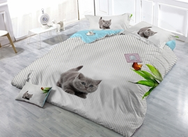 Lovely Kitty Digital Printing 4-Piece Duvet Cover Sets