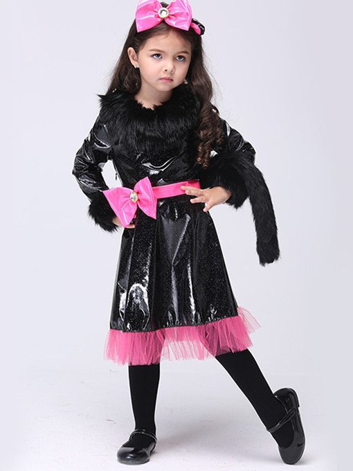 Ericdress Halloween Catwoman Grils Costume Dress