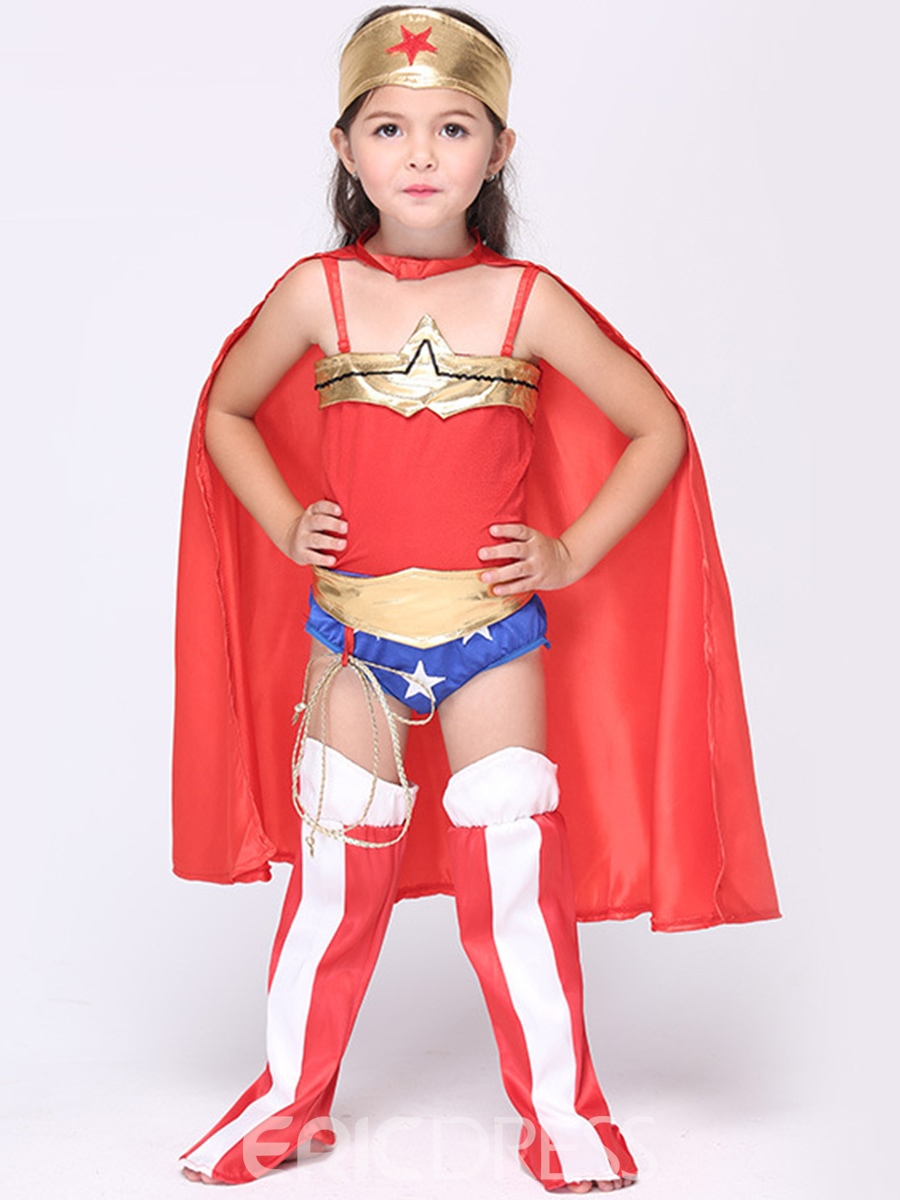 Ericdress Halloween Superwoman Grils Costume Suit