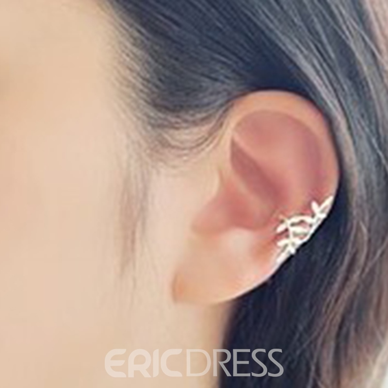 Ericdress Full Rhinestone Leaves Ear Clip