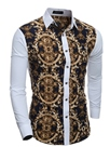 Ericdress Patchwork Vintage Print Slim Men's Shirt