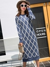 Ericdress Solid Color Palid Round Collar Sweater Dress