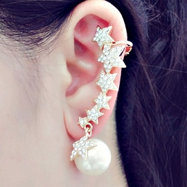 Ericdress Shining Stars Connection Ear Cuff