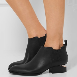 Ericdress Black Slip on Ankle Boots