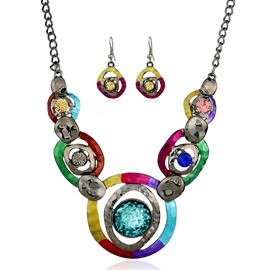 Ericdress Retro Mixed Color Alloy Jewelry Set