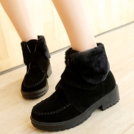 Ericdress Warm Short Floss Ankle Boots