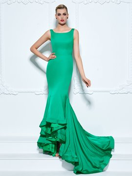 Ericdress Straps Trumpet Ruffles Court Train Evening Dress