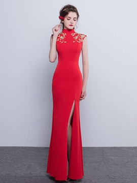 Ericdress Vintage Sheath High Neck Floor Length Evening Dress