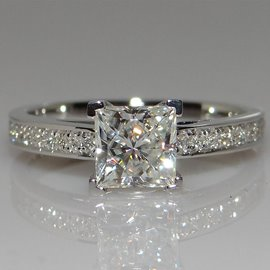 Hot Princess Cut 1CT Women's Wedding Rings