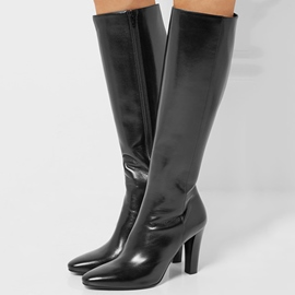Ericdress Stylish Side Zipper Point Toe Knee High Boots