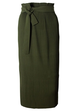 Ericdress Pleated Column Skirt