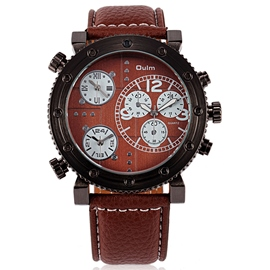 Ericdress Coffee Surface Design Men's Casual Watch