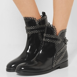 Ericdress Black Round Toe Ankle Boots