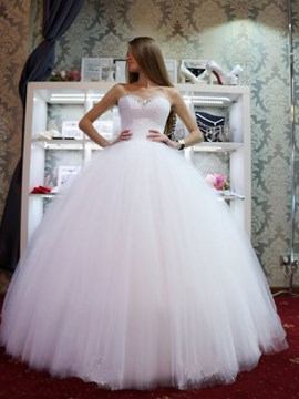 Ericdress Beading Sweetheart Ball Gown Wedding Dress