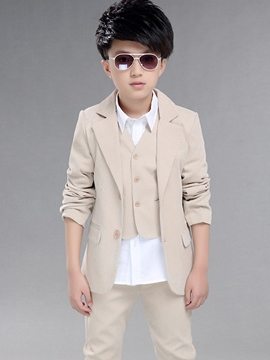 Ericdress Solid Color British style Boys Dress Suit Set