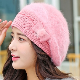 Ericdress Cute Bowknot Embellished Knitted Hat