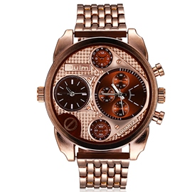 Ericdress Luxury Three-Movement Men's Business Watch