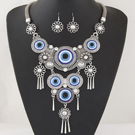 Ericdress Personality Blue Eyes Design Jewelry Set