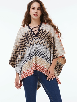 Ericdress Loose Geometric Cape
