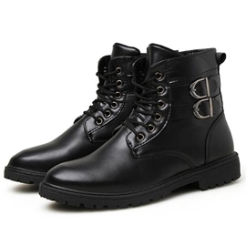 Ericdress Cool PU Thread Men's Martin Boots