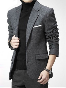 Ericdress Vogue Woolen Slim Men's Blazer