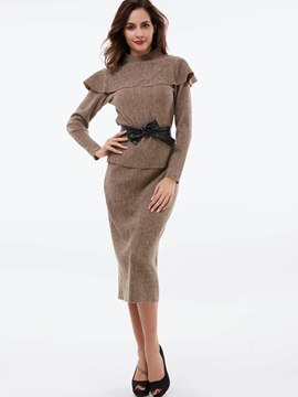 Ericdress Sweet Knitwear Leisure Suit