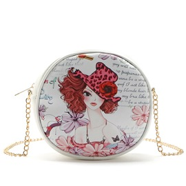 Ericdress Ladylike Beauty Print Shoulder Bag