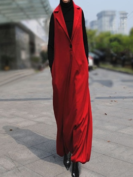 Ericdress Solid Color Thick Loose Full Length Jumpsuits Pants