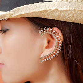 Ericdress Shining Rhinestone Golden Ear Cuff