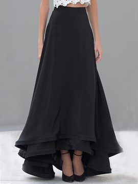 Ericdress Vintage Expansion Maxi Skirt