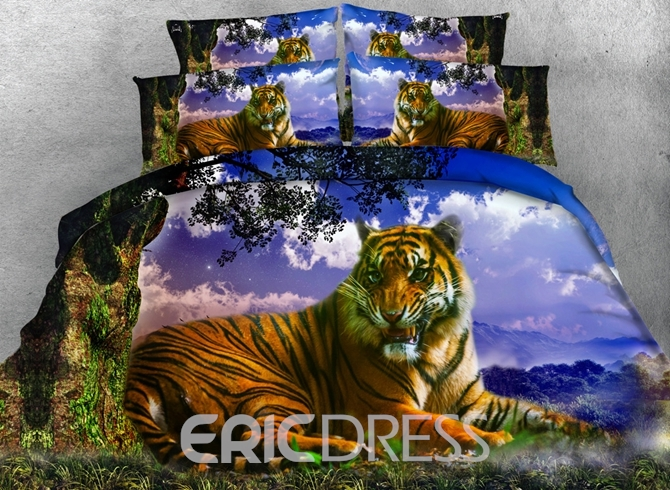 Ericdress Mighty Forest Tiger Print 3D Bedding Sets 12470333