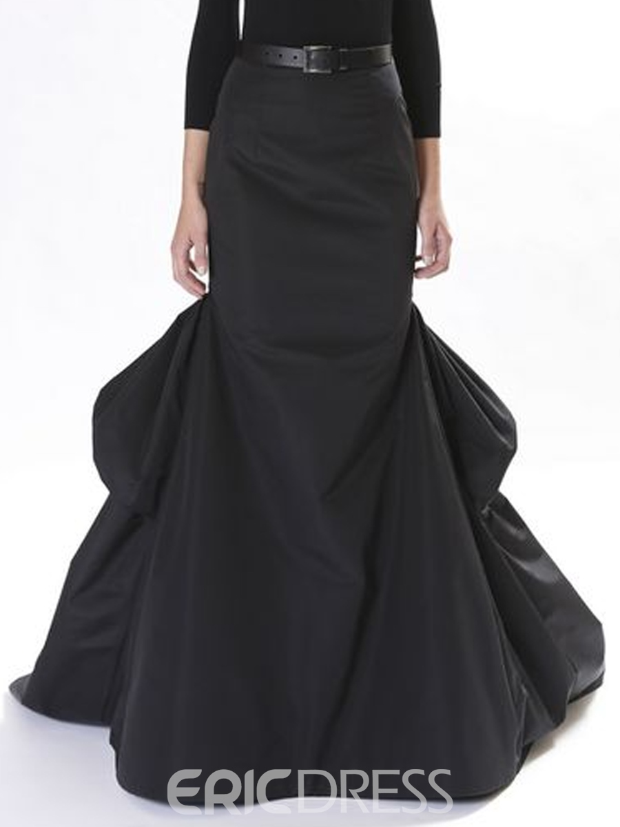 Ericdress Solid Color Vintage Expansion Maxi Skirt
