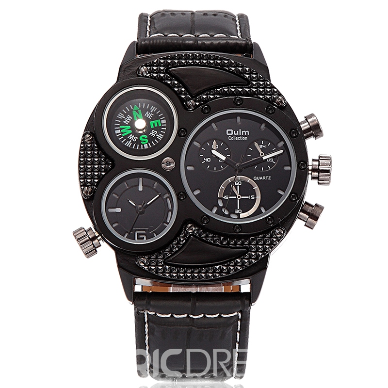 Ericdress PU Band Black Surface Men's Watch