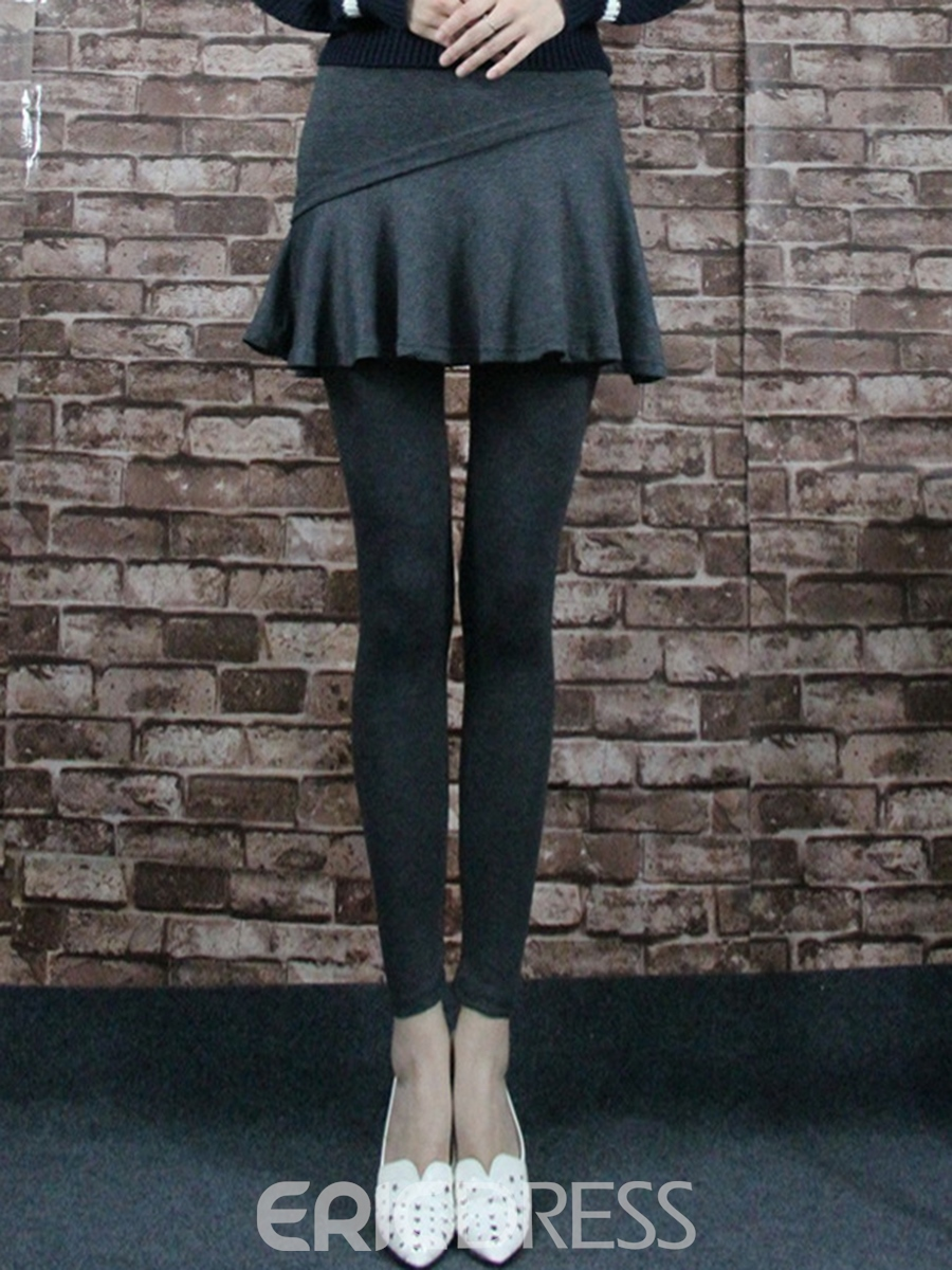 Ericdress Thick Double-Layer Leggings Pants